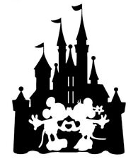 Disney Castle Mickey Minnie Mouse Decal Sticker Childs Bedroom Car Laptop Window