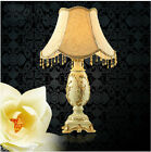 European Style Beige E27 Height 53CM Resin+Fabric Bedroom Bedside Table Lamp