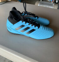 Youth Adidas Predator Tango 19.4 Turf  Soccer Shoes Black&Blue Size 4.5 G25826