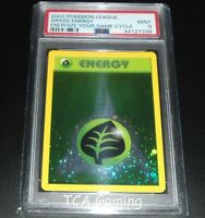 PSA 9 MINT Grass Energy WOTC HOLO PROMO 2002 League Pokemon Card