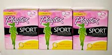 3 Playtex Sport Unscented Tampons Regular Absorbency 360 Protection (18 in 1)
