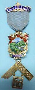 Masonic Silver Past Master Jewel Lakedale Lodge No 4044 1944-45