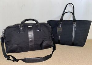 RARE Coach Black Signature Weekend Travel Gym Duffle & Tote Bag F77012 & 5061