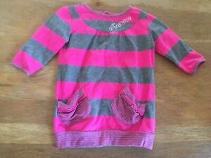 run scotty run Baby Girl Long Sleeve Dress Size 0 Pink Stripe