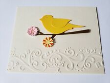 Embossed Notecards with assorted birds - 5 (4 x 5) ivory With white Envelopes