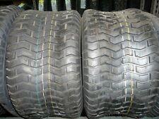 TWO 20/10.00-10, 20/10-10 John Deere Lawnmower/Golf Cart 4 ply Turf Tread Tires