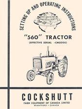 Cockshutt 560 Tractor Owner Operators Manual Before CM5000