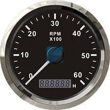 KUS Marine Boat Tachometer Gauge W/ LED Hourmeter Boat RPM Tacho Meter 6000RPM