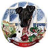 Fox Terrier Tricolor Dog Porcelain Ornament Pet Gift 'Santa. I Can Explain!'
