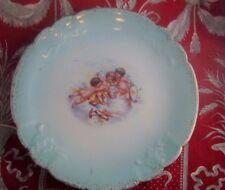 ancienne assiette porcelaine de limoges epoque 1900 romantique angelots putti