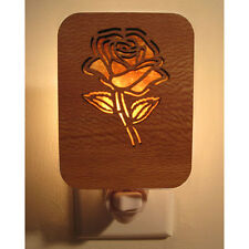 Artisan made laser cut  - ROSE night light - Sycamore & Mica - #JRM-NL-SAM-104