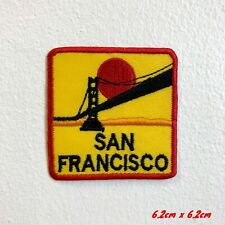Famous San Francisco Bridge with Sunset Iron Sew on Patch applique #1857