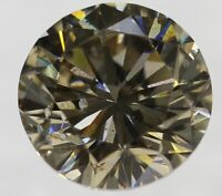 0.26 Carat Fancy Brown SI1 Round Brilliant Natural Loose Diamond For Ring 3.95mm