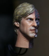 1/6 Scale Aaron Eckhart Burned Head Sculpt Two Face Fit For Hot Toys Body