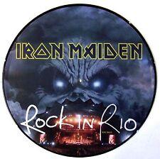 IRON MAIDEN VINYL LP - ROCK IN RIO - PICTURE DISC