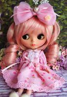 [PF] 92# Cute Handmade Lolita Blue Long Pink Dress For Blythe Pullip Doll