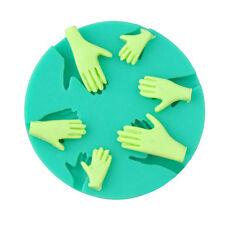 est 3D Human Hand Fondant Cake Decorating Silicone Mould Fimo DIY Mold