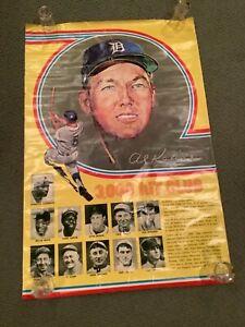 RARE Al Kaline Detroit Tiger Stadium SGA 3000 Hit Poster