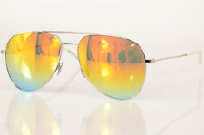 Saint Laurent Classic 11 Rainbow silver logo aviator frame sunglasses NEW $380