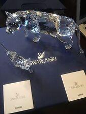 Lion Mother 2013 Swarovski Crystal #1194085 and Lion Cub #1194148 Bnib