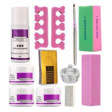 Nail Art Kit DIY Acrylic Nail Liquid Powder Block Pen Dappen Dish Tool Set