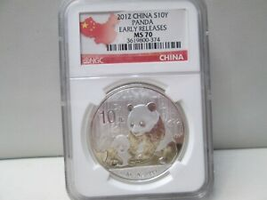 2014 Chinese Panda .999 Silver 1 Ounce Coin NGC MS 70 Early Releases