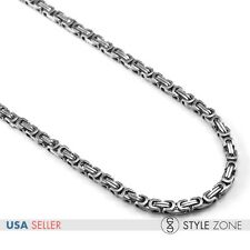 Men Stainless Steel Heavy Duty Silver Tone Box Link Chain Necklace Punk Cool M14