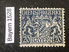 BAYERN Dienstmarken Mi D28X Used XF - CV +15 Euros