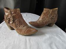 boots/bottines khrio cuir camel 39