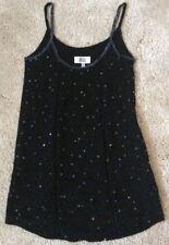 OASIS SIZE 8 (34) BLACK VISCOSE SPAGHETTI STRAP WOMEN'S MINI DRESS *VERY GOOD*