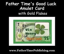 Father Time's Good Luck Amulet Card Helps You Win Money Gambling, Lottery, Cash!