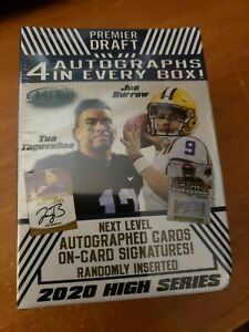 2020 Sage Hit Premier Draft High Series Blaster Box 4 Autographs in every box