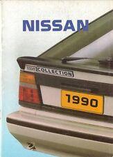Nissan 1989-90 UK Sales Brochure Micra Sunny Prairie Bluebird 200SX Maxima 300ZX
