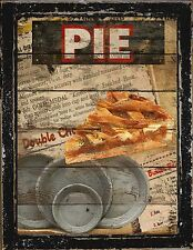 Primitive Country Home Decor  Kitchen Diner Bakery Apple Pie Pan Wall Art Sign