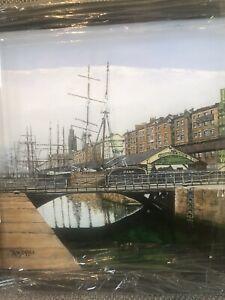 Original Acrylic Painting Of Liverpool Pier Head Georges Dock 1890