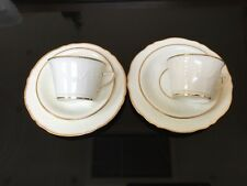 Mintons Mortlock Cream Cup Saucer And Plate Embossed, Antique Mintons Tea Trio