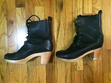 No. 6 Clogs Boots Heels Lace Up 41 Witch Shoes Leather Bona Drag Urban Free Goth