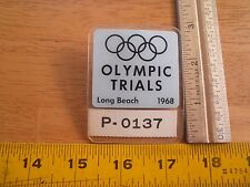 USA United States Olympic Gymnastics Trials 1968 Press badge Long Beach CA