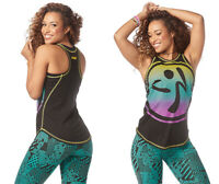 Zumba Happiness High Neck Tank Top - Bold Black XS, Small, Medium, Large, XL XXL