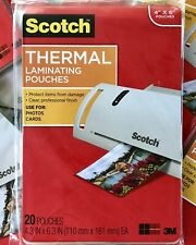 Scotch Thermal Laminating Pouch 4 X 6 Inches 5 Mil Pack Of 20 Qty Discount