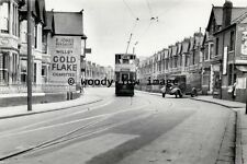 a0380 - Cardiff Tram in Whitchurch Road , Heath - photograph