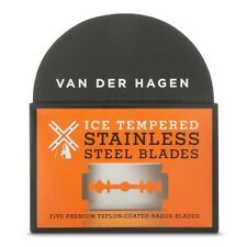 Van Der Hagen Ice Tempered Stainless Steel Blades - 5 Double Edge Blades