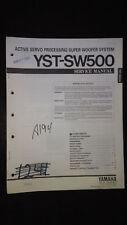 Yamaha yst-sw500 service manual original repair book Speaker Super Woofer System