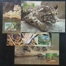 FULL SET MALAYSIA 1995 WWF LEOPARD MAXICARD