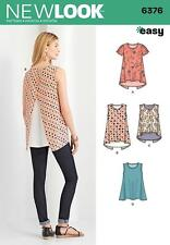 NEW LOOK SEWING PATTERN Misses'  TOP WITH LENGTH VARIATIONS 6 - 18 6376 A