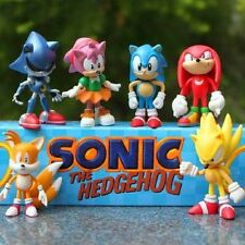 6 SONIC THE HEDGEHOG ACTION FIGURES KID DISPLAY FIGURINES TOY CAKE TOPPER DECOR