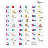 Alphabet Cards A-Z Kids Toddlers Preschool Early Learning Resource Sen Q7J3