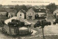 Carte VITREY SUR SAONE Place du Marché et Lavoir Couvert Vitrine du commerce