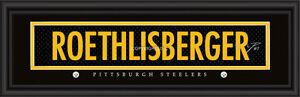 Pittsburgh Steelers Ben Roethlisberger Signature Framed Print - NFL Man Cave