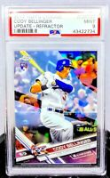 2017 Topps Chrome Update Cody Bellinger BATTING RC HMT81 REFRACTOR 96/250 PSA 9!